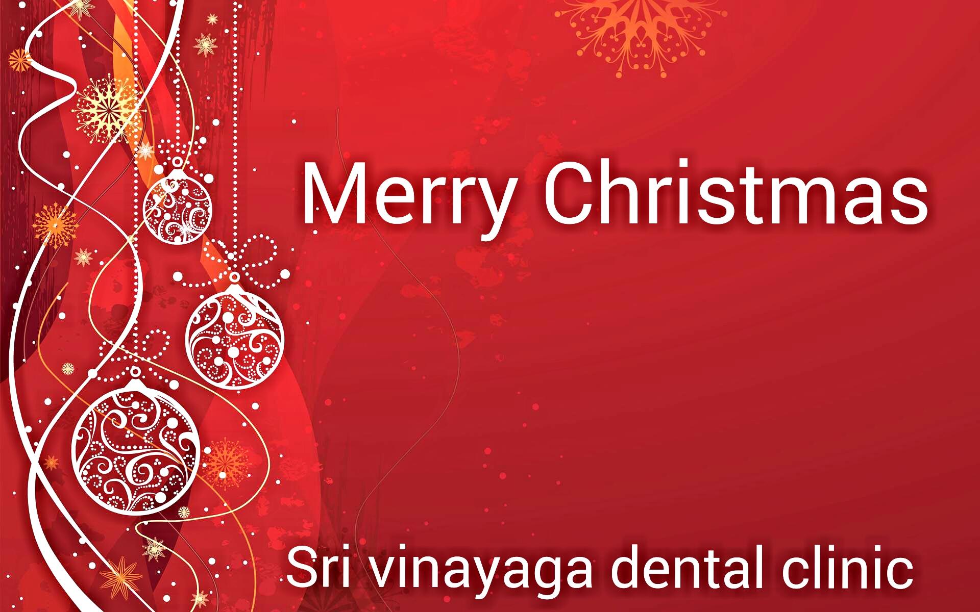 merry Christmas sri vinayaga dental clinic thoothukudi